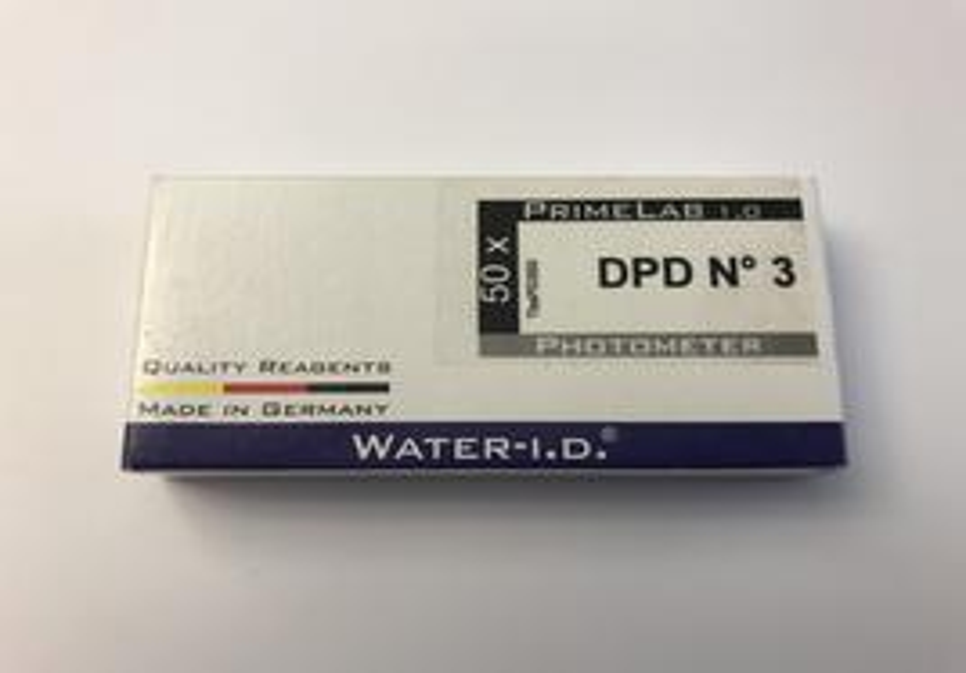 Ersatztabletten Photometer für gesamt Chlor DPD3, 50 Tabletten