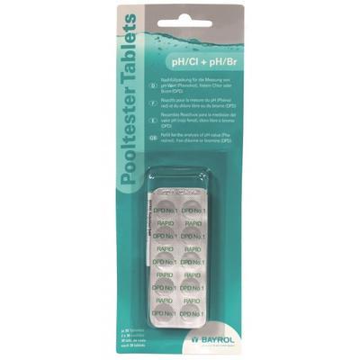 Nachfüllsatz pH (Phenolrot) /Chlor (DPD1), 2 x 30 Tabletten