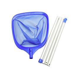 Handkescher mit Stange 3x 50cm, blau