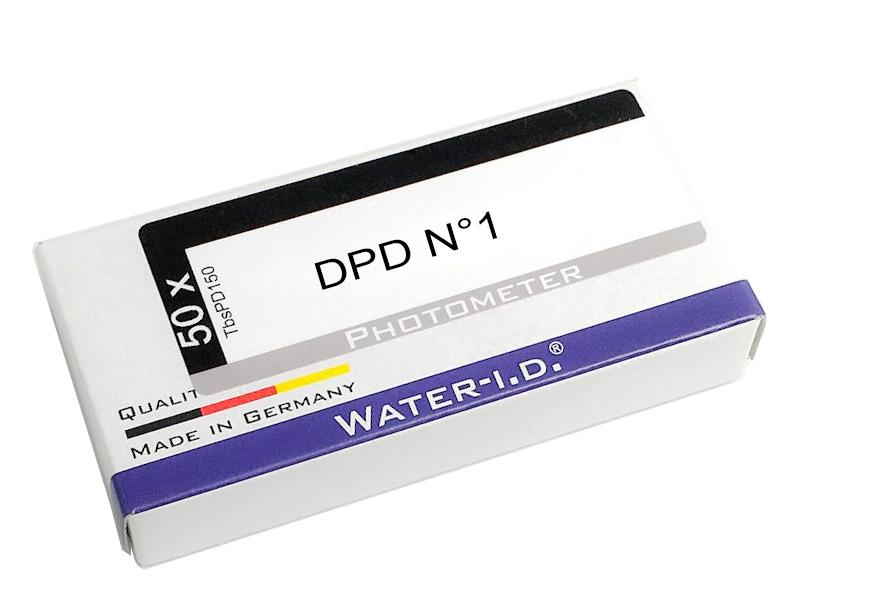 Ersatztabletten Photometer für freies Chlor DPD1, 50 Tabletten